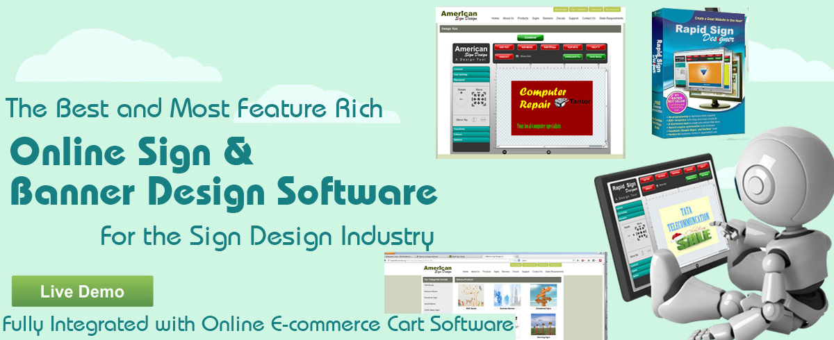 Online sign and banner design software for the printing for Online software design tool